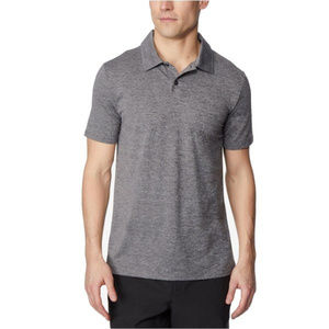 32 Degrees Techno Mesh Men's Gray Polo